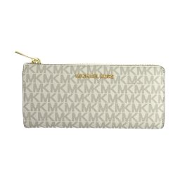MICHAEL KORS Michael Kors logo L-type ZIP long wallet 35F8GTVZ3B vanilla coating can