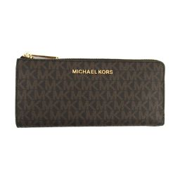 MICHAEL KORS Michael Kors logo L-type ZIP long wallet 35F8GTVZ3B Brown coating carrier