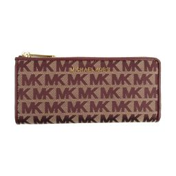 MICHAEL KORS Michael Kors logo L-type ZIP long wallet 35F9GTVZ3J Bordeaux canvas [new