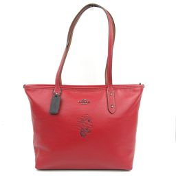 COACH coach tote bag F38621 red leather [like new] ladies