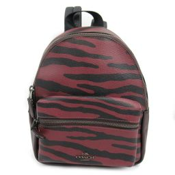 COACH Coach Rucksack F37880 Red x Black Coating Canvas [Like New] Rede