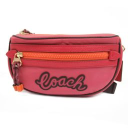 COACH Coach Waist Bag F76649 Pink x Orange Nylon [Like New] Ladies