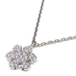 BVLGARI ブルガリ スノーフレーク ダイヤモンド ネックレス ペンダント クリアー K18WG(750) ホ