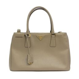 PRADA Prada 2way Shoulder Handbag Gray Safiano × Leather [Used] [Rank B] ​​Rede