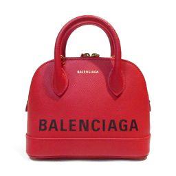 BALENCIAGA バレンシアガ ヴィルXXS ショルダーバッグ 550646 レッド レザー 【新品同様】 レ