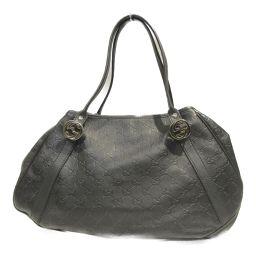 GUCCI Gucci Shoulder Bag 232963 Black Gucci Shima Leather [Used] [Rank A] Ladies