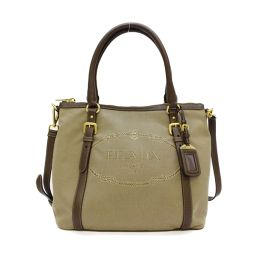 PRADA Prada 2way shoulder bag handbag 1BC017 CORDA BRUCIATO beige