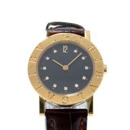 BVLGARI ブルガリ ブルガリ ブルガリ 11Pダイヤ 腕時計 BB26GL ブラック K18YG(750)イ