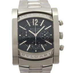 BVLGARI ブルガリ アショーマ クロノ メンズウォッチ 腕時計 AA48SCH シルバー ステンレススチール