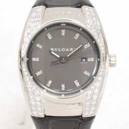 BVLGARI ブルガリ エルゴン 腕時計 ウォッチ EGW30G グレー 18KWGxダイヤモンドxレザーベルト