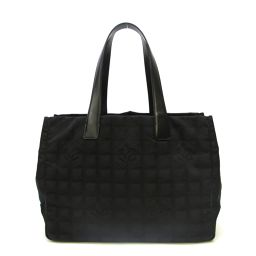 CHANEL Chanel New Travel Line Tote MM Tote Bag A15991 Black Nylon Leather