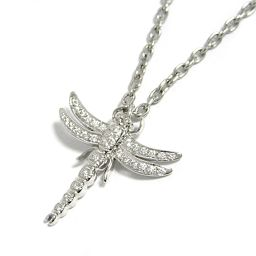 TIFFANY & CO Tiffany Dragonfly Dragonfly Diamond Necklace Silver PT950 Platinum ×