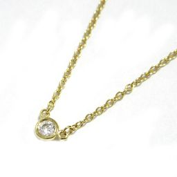 TIFFANY & CO Tiffany diamond by the yard necklace gold K18YG (750) yellow