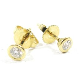 TIFFANY & CO Tiffany by the yard earrings Gold X Clear K18YG (750) Yellow Go