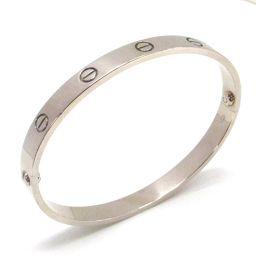 Cartier Cartier love bracelet bracelet bangle silver K18WG (750) white gold