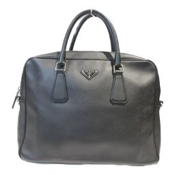 PRADA Prada 2way Shoulder Business Bag Black Saffiano Leather [Used] [Rank A] Men