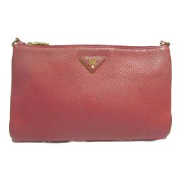 PRADA Prada Shoulder Bag Red Leather [Used] [Rank B] Ladies
