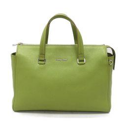 miu miu Miu Miu 2 way shoulder bag green leather [pre] [Rank A] Women