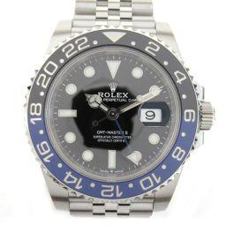 ROLEX ロレックス GMTマスター 2 ウォッチ 腕時計 126710BLNR シルバー ステンレススチール(