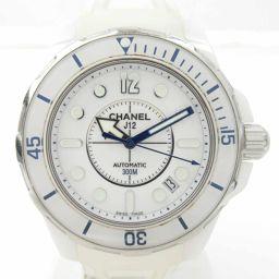 CHANEL シャネル J12 マリーン ウォッチ 腕時計 ホワイト セラミック x ラバー 【中古】【ランクA】