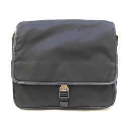 PRADA Prada Messenger Bag Shoulder Bag V166 Black Nylon [Used] [Rank A]