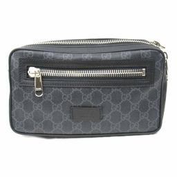 GUCCI Gucci GG Supreme waist bag body bag 474293 black x gray coating