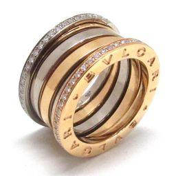 BVLGARI ブルガリ B-zero1 リング 指輪 ビーゼロワン ダイヤモンド Mサイズ #51 クリアー K