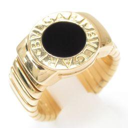 BVLGARI ブルガリ ブルガリブルガリ トゥボガス リング 指輪 ブラック K18YG(750) イエローゴー