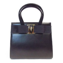 Salvatore Ferragamo Salvatore Ferragamo Handbag Black Leather (calf) [pre-owned