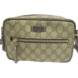 GUCCI Gucci Shoulder Bag 201447 Brown Beige GG Canvas Leather [Used] [Rank B