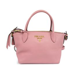 PRADA Prada Leather 2way Shoulder Bag 1BA111 Pink Leather [Used] [Rank A] Lady