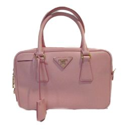 PRADA Prada 2way shoulder handbag 1BB113 Pink Saffiano Leather [Used] [Rank A]