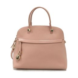 FURLA Furla Piper 2way Handbag Pink Beige Leather [Used] [Rank A] Ladies