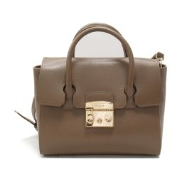 FURLA Furla 2way Handbag BGX6 Brown Leather [Used] [Rank A] Ladies