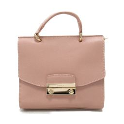 FURLA Furla 2way Handbag BLH0 Pink Beige Leather [Used] [Rank A] Ladies