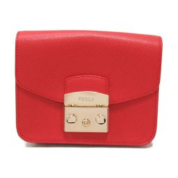 FURLA Furla Metropolis Shoulder Bag BGZ7 Red Leather [Used] [Rank A] Ladies