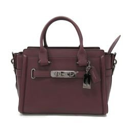 COACH Coach 2way Handbag 55496 Bordeaux Leather [Used] [Rank A] Ladies