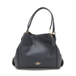 COACH Coach Shoulder Bag 57125 Navy Leather [Used] [Rank A] Ladies