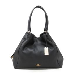 COACH Coach Shoulder Bag 33547 Black Leather [Used] [Rank A] Ladies