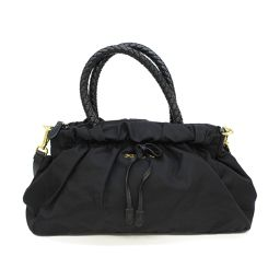 PRADA Prada 2way Shoulder Bag Handbag Black Nylon [Used] [Rank A] Ladies