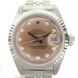 ROLEX ロレックス デイトジャスト 10Pダイヤ ウォッチ 腕時計 79174G P番 シルバー K18WG(