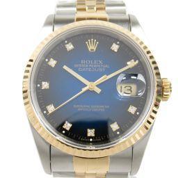 ROLEX ロレックス デイトジャスト 10Pダイヤ ウォッチ 腕時計 16233G S番 シルバー K18YG(