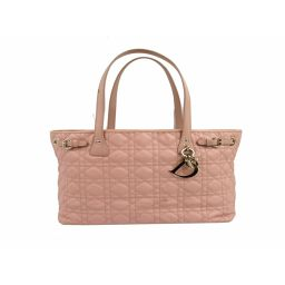 Dior Christian Dior Panarea Tote Bag Pink Coated Canvas [Used] [Rank B]