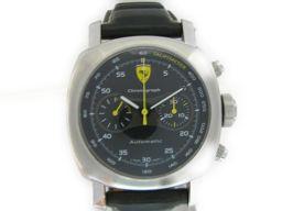 PANERAI パネライ フェラーリ 腕時計 ウォッチ ブラック ステンレススチール(SS) レザーベルト 【中古