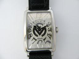 FRANCK MULLER フランク・ミュラー ロングアイランドレリーフ SS/革 腕時計 ウォッチ 902QZ