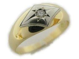 JEWELRY ジュエリー ダイヤモンドリング ゴールド K18YG(750) イエローゴールド ×Pt プラチナ