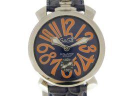 GaGa MILANO ガガミラノ マヌアーレ48 腕時計 ウオッチ 5010.8S ブルー×オレンジ×シルバー