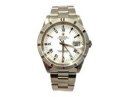 ROLEX ロレックス パーペチュアル デイト'91 メンズ腕時計 15210 ホワイト ステンレススチール(SS