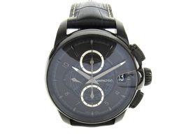 HAMILTON ハミルトン レイルロード クロノグラフ ウォッチ 腕時計 メンズ H406860 ブラック ステ