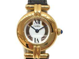 Cartier カルティエ マストコリゼヴェルメイユ 腕時計 WATCH ゴールド レザーベルト (ケース・バック